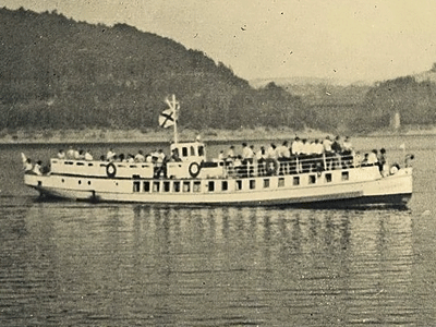 Stateczkiem po Jeziorze Pilchowickim